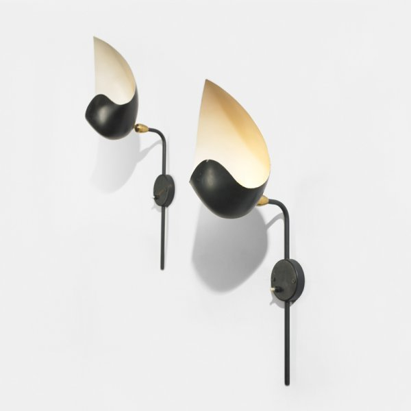390: Serge Mouille Coquille sconces, pair