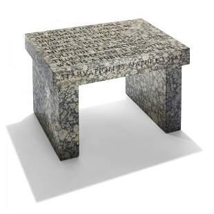 838: Jenny Holzer Truism Footstool