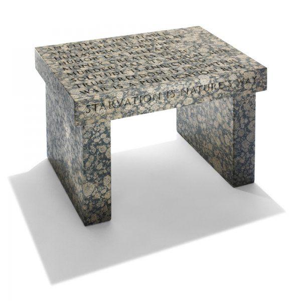 Jenny Holzer Truism Footstool