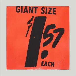 Andy Warhol, $1.57 Giant Size