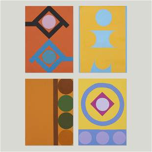 Kenneth Licht, Geometric paintings (four works)