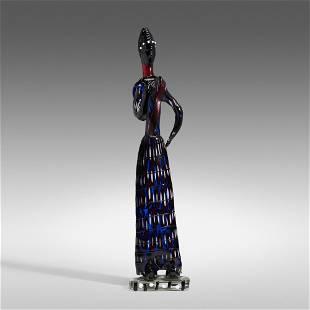 Fulvio Bianconi, Rare African figure, model 4920