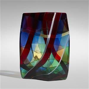 Fulvio Bianconi, Rare Scozzese vase, model 4592