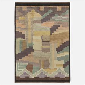 Greta Skoaster, Art Deco flatweave carpet