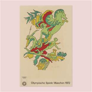 Charles Lapicque, 1972 Munich Olympic Games poster
