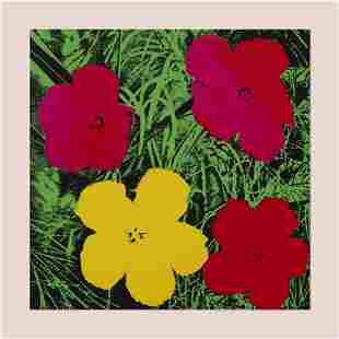 After Andy Warhol, Flowers poster