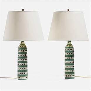 Stig Lindberg, Table lamps, pair
