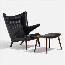 Hans J. Wegner, Papa Bear chair with ottoman