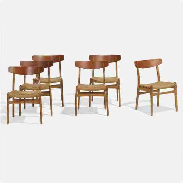 Hans J. Wegner, Dining chairs model CH 23, set of six