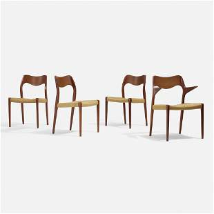 Niels O. Moller, Dining chairs model 71, set of four