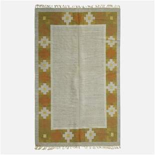 Barbro Sprinchorn, attribution, Flatweave carpet