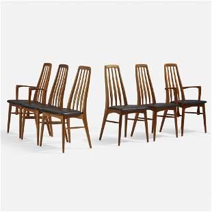 Niels Koefoed, Eva chairs, set of six