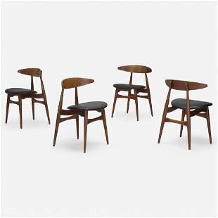 Hans J. Wegner, Dining chairs model CH 33, set of four