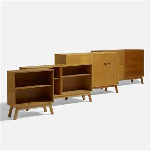 In the manner of Alvar Aalto, Cabinets, set of four