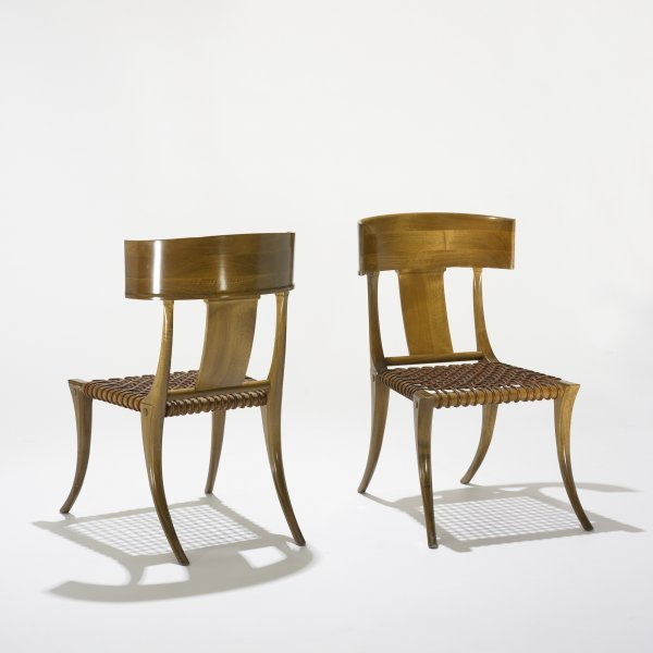 102: T.H. Robsjohn-Gibbings Klismos (chairs), pair