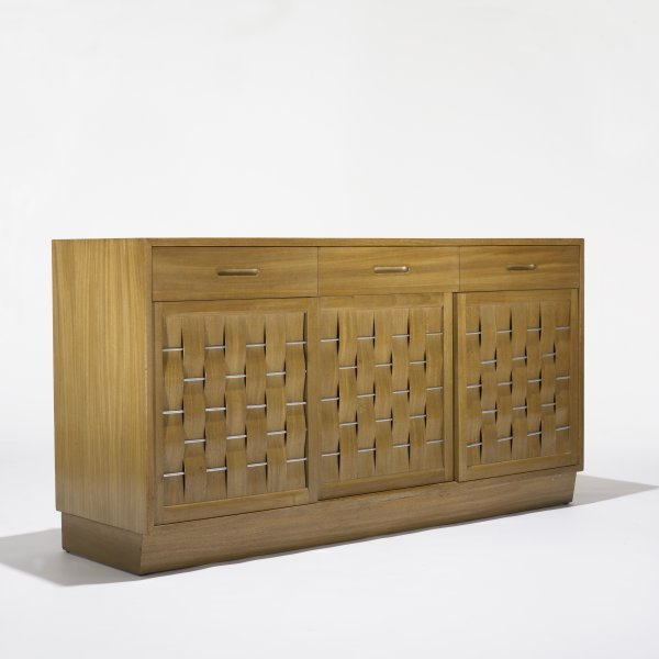 108: Edward Wormley Woven-Front cabinet, model 5666