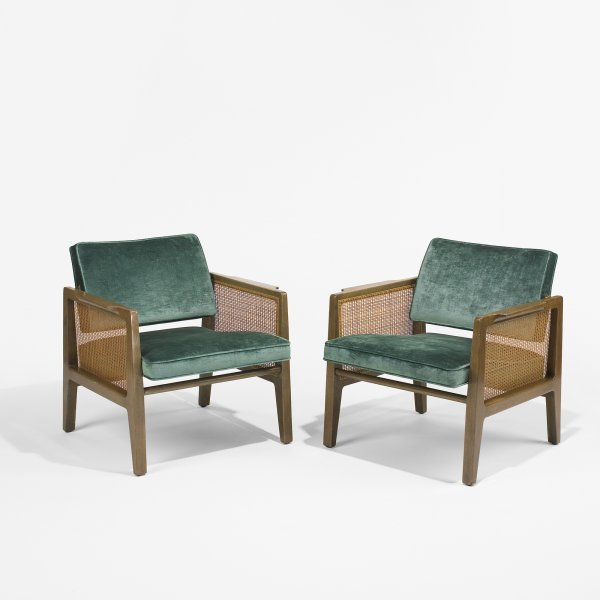 121: Edward Wormley armchairs model 5513, pair