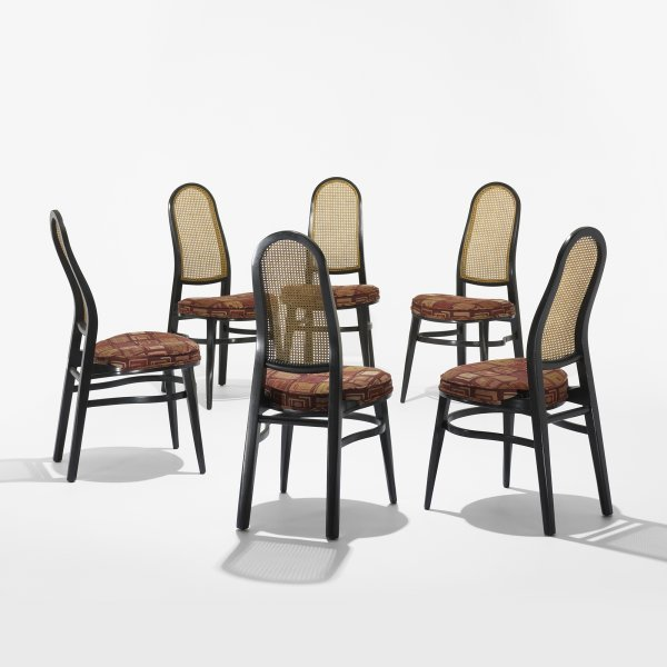 122: Edward Wormley dining chairs, set of six