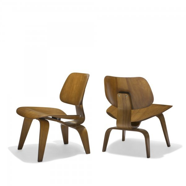 613: Charles and Ray Eames LCWs, pair