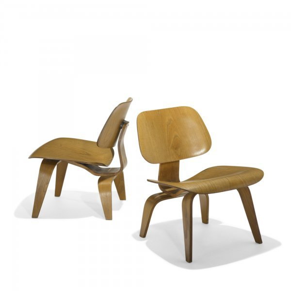 614: Charles and Ray Eames LCWs, pair