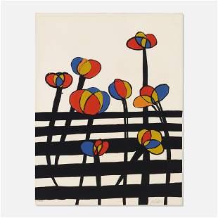 Alexander Calder, Flowers on a Fence
