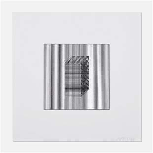 Sol LeWitt, Twelve Forms Derived From a Cube, Plate #4