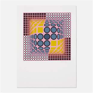Victor Vasarely, Pink Composition