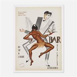 In the manner of Paul Colin, Bar des Folies Africaines