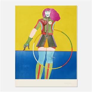 Richard Lindner, Girl with Hoop