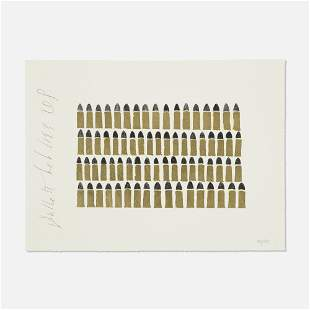 Donald Sultan, Bullets (from the Bar Mitzvah portfolio)