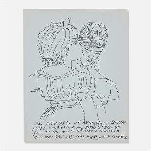Andy Warhol, Untitled (from Love is a Pink Cake)