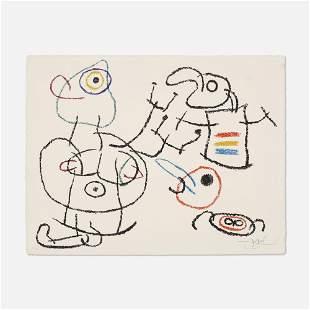 Joan Miro, Untitled, Plate 3 (from Ubu aux Baleares)