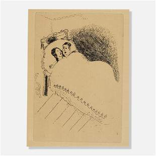 Marc Chagall, Couple in Bed (from La Maternite Suite)