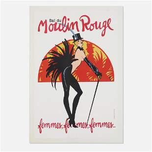 Rene Gruau, Bal du Moulin Rouge poster