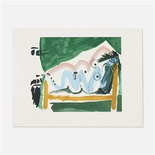 Pablo Picasso, Ne Allongee et Tete d?Homme de Profil
