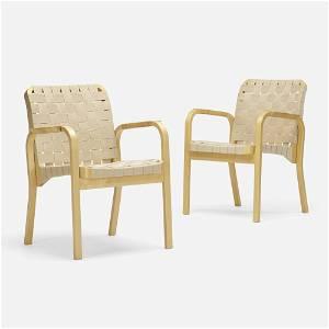Alvar Aalto, Armchairs model 45, pair
