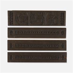 Evelyn and Jerome Ackerman, Panels, set of four