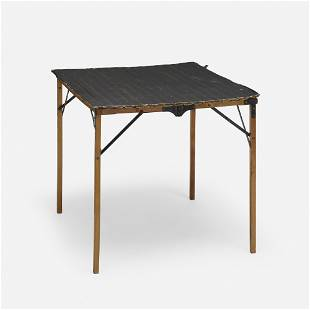 American, Folding military table