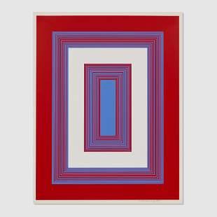 Richard Anuszkiewicz, Red, White and Blue