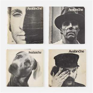 Avalanche magazines, collection of four