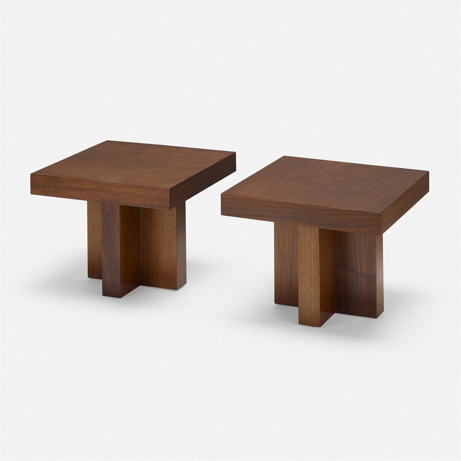 Milo Baughman, Occasional tables, pair