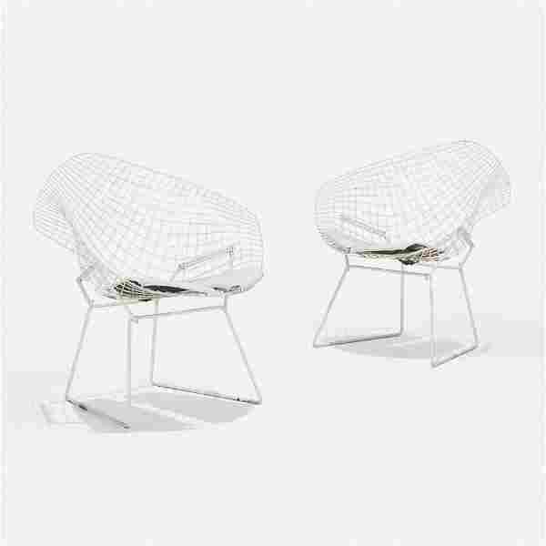 Harry Bertoia, Diamond chairs, pair