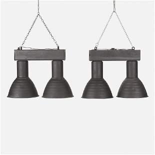Industrial, Ceiling lights, pair