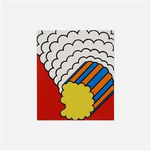 Nicholas Krushenick, White Smoke Red Sky