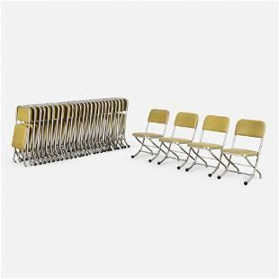 Warren McArthur, Folding chairs, set of twenty-nine