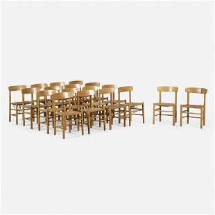 Borge Mogensen, Dining chairs, set of eighteen