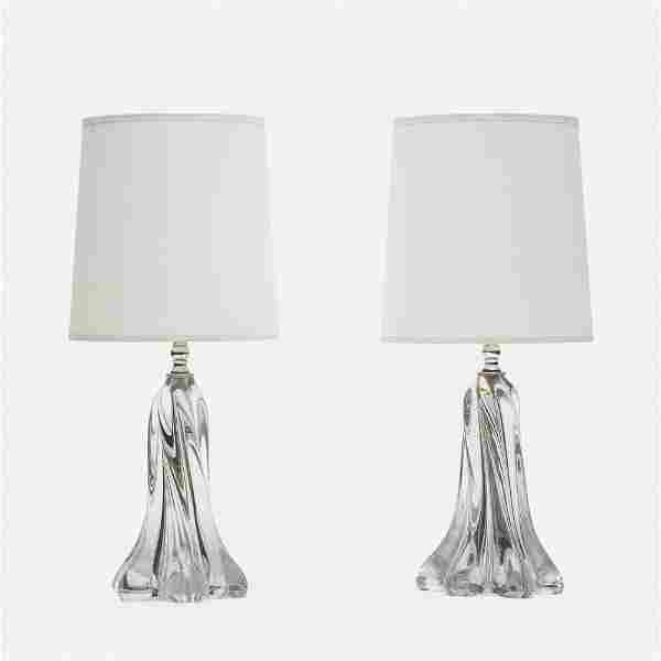 Vannes-le-Chatel, Table lamps, pair