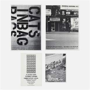 Christopher Wool exhibition posters, collection of four