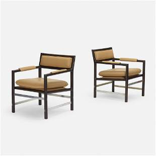 Edward Wormley, 979 lounge chairs, pair