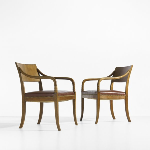 106: Danish armchairs, pair